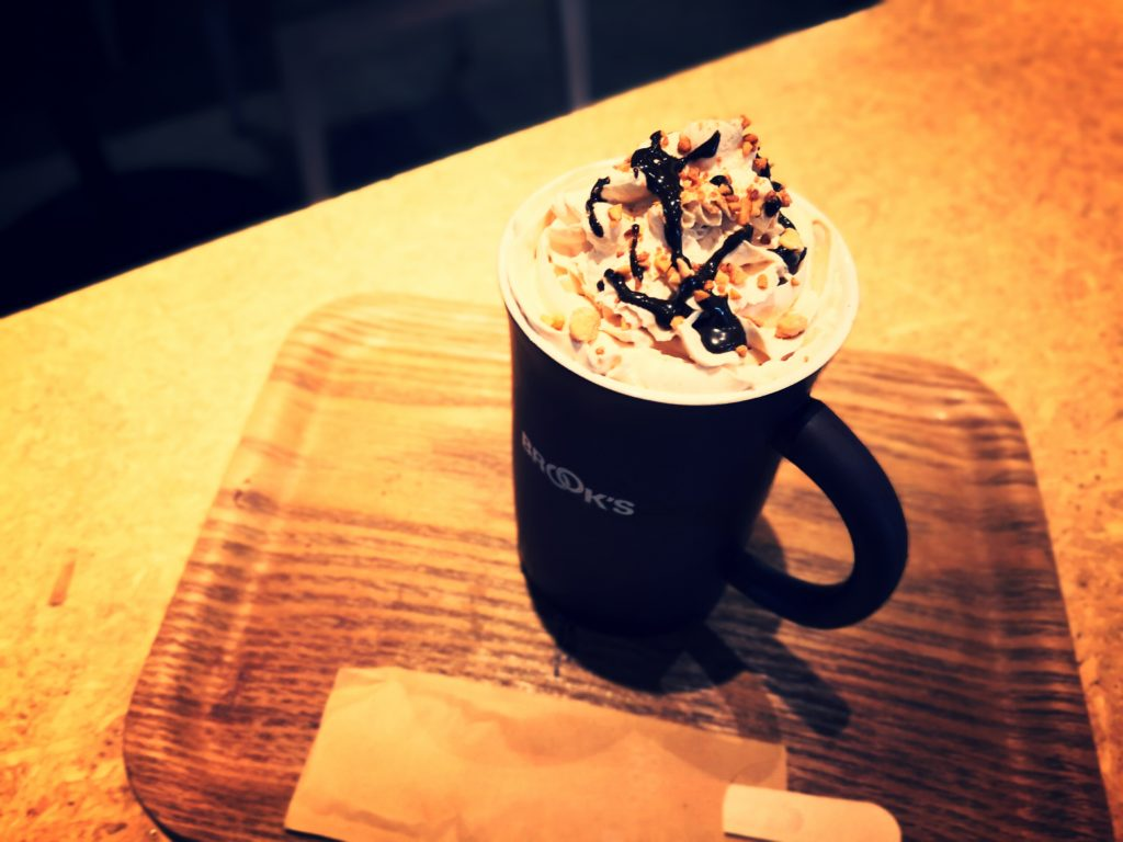 BROOK'S ME-BYO café ぶるっくす みびょうかふぇ ほうじ茶ラテ ホット