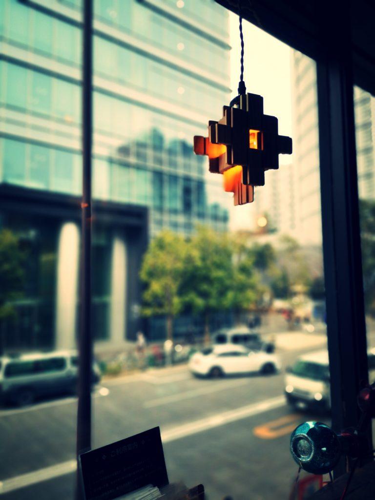 nikka block cafe 二階 カウンター席