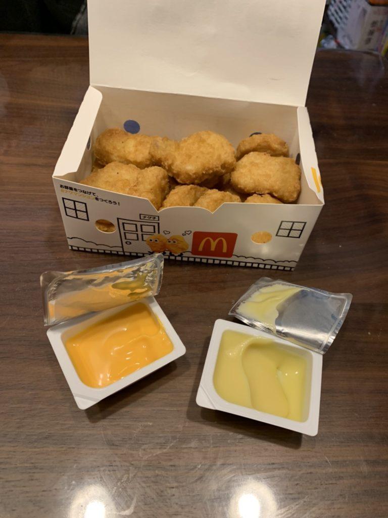 チェダーチーズとコンポタージュソース